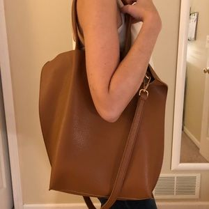 SOLE SOCIETY brown leather tote 👜